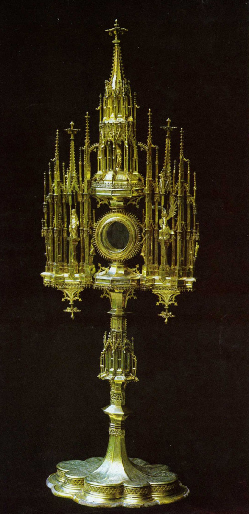 1517- monštrancia 106 cm Bratislava pozkátené sriebro.Dom sv. Martina